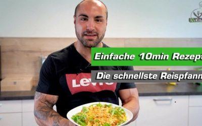 10min Rezept | Mediterrane Reispfanne mit Körnigem Frischkäse