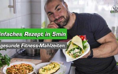 Einfache und gesunde Fitness Mahlzeiten in 5min – Gemüse-Omelette