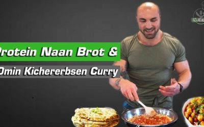 Naan Brot by IQs Kitchen mit Chaan Masala | veganes Kichererbsen Curry