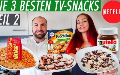 NETFLIX & SNACK TEIL II – 3 kalorienarme und gesunde TV-Snacks