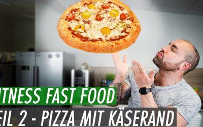 Fitness Fast Food – 4 Käse Pizza mit Käserand | Besser als jede Fertigpizza