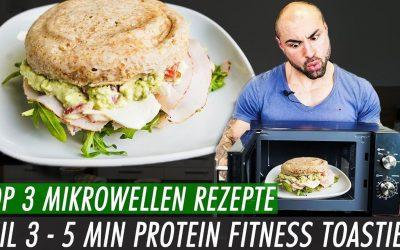 5min Fitness Brötchen | Protein Toastie aus der Mikrowelle