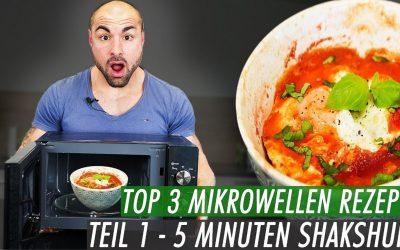 Schnelle Fitness Rezepte aus der Mikrowelle – Shakshuka in 5min zubereitet