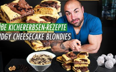 Chocolate-Cheesecake Blondies | unter 100 Kcal Rezept