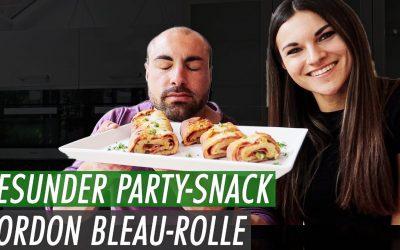 "Cordon Bleu ""Stromboli"" Rolle | Gesunder Party Snack"